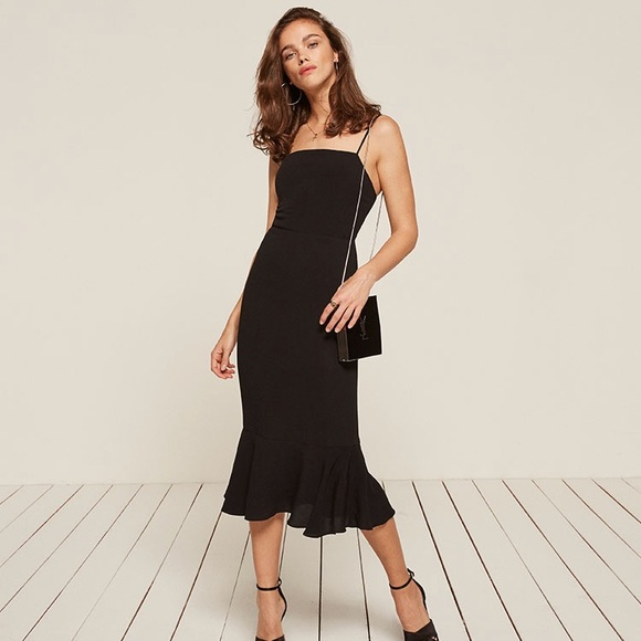 0fa351ac726 Reformation black Moxie dress